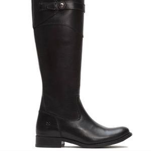 Frye Black Molly Button Tall Riding Boot